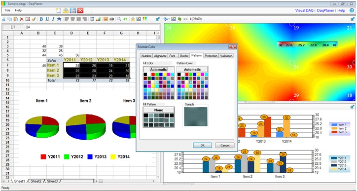 Click to view Visual DAQ DaqPlaner - 2D Data Analytics screenshots