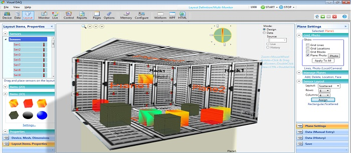Data Center - Three Dimensional Layout